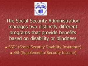 Distinguishing between SSI and SSDI